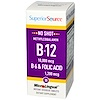 Superior Source, Methylcobalamin B-12 10,000 mcg, B-6 & Folic Acid 1,200 mcg, 30 MicroLingual Instant Dissolve Tablets