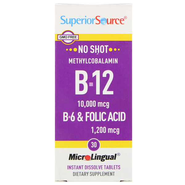 Superior Source, B-12, B-6 & Folic Acid, 30 MicroLingual Instant Dissolve Tablets (Discontinued Item)