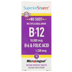 Супер Сорс, B-12, B-6 & Folic Acid, 30 MicroLingual Instant Dissolve Tablets отзывы