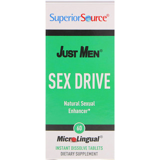 Superior Source, Just Men, Sex Drive, Natural Sexual Enhancer, 60 MicroLingual Instant Dissolve Tablets