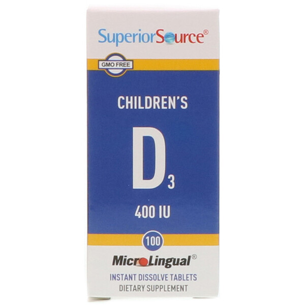 Children's D3, 400 IU, 100 MicroLingual Instant Dissolve Tablets