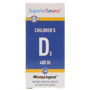Супер Сорс, Children's D3, 400 IU, 100 MicroLingual Instant Dissolve Tablets отзывы покупателей
