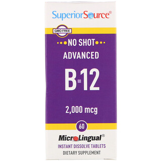 Superior Source, Advanced B-12, 2,000 mcg, 60 MicroLingual Instant Dissolve Tablets