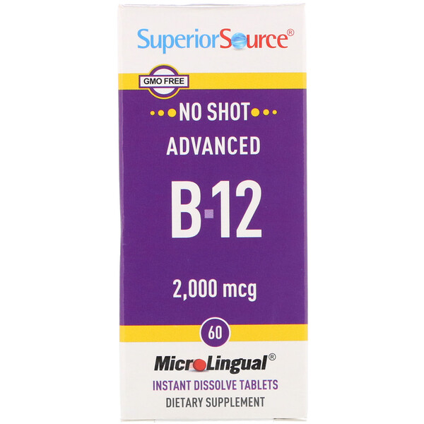 Advanced B-12, 2,000 mcg, 60 Tablets