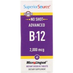 Супер Сорс, Advanced B-12, 2,000 mcg, 60 Tablets отзывы покупателей