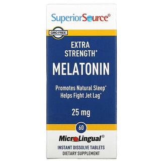 Superior Source, Extra Strength Melatonin, 25 mg, 60 MicroLingual Instant Dissolve Tablets