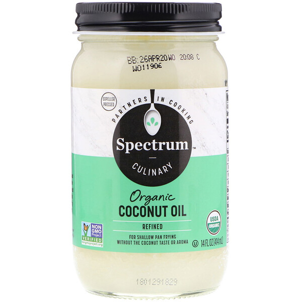 Spectrum Naturals, Organic Coconut Oil, Refined, 14 fl oz (414 ml)
