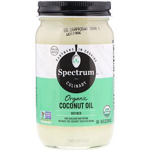 Спектрум Натуралс, Organic Coconut Oil, Refined, 14 fl oz (414 ml) отзывы