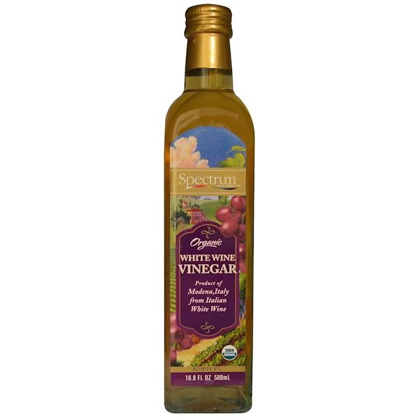 Spectrum Culinary, Organic White Wine Vinegar, 16.9 fl oz (500 ml) (Discontinued Item)