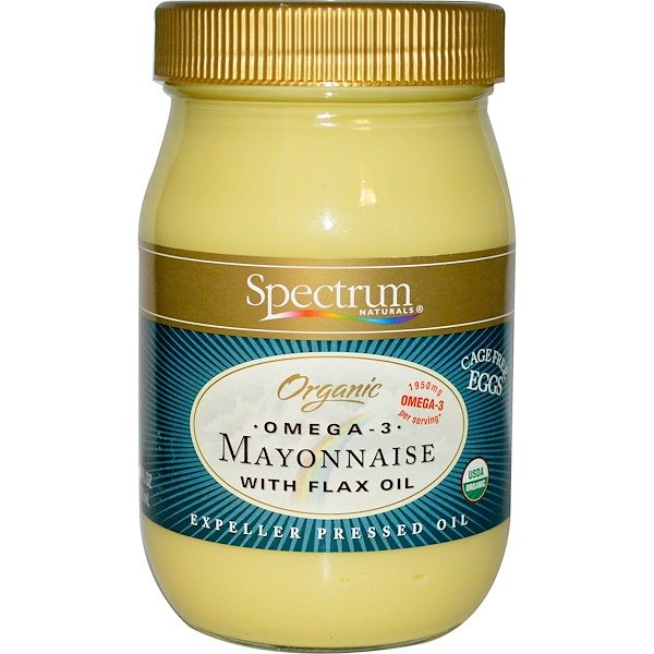 Spectrum Naturals, Organic Omega-3 Mayonnaise with Flax Oil, 16 fl oz (473 ml) (Discontinued Item)