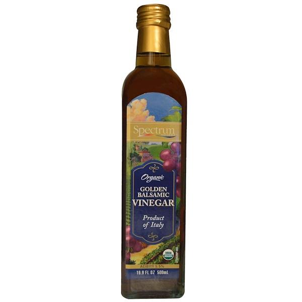 Spectrum Culinary, Organic Golden Balsamic Vinegar, 16.9 fl oz (500 ml) (Discontinued Item)