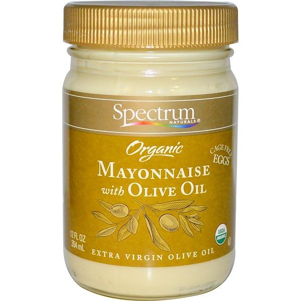 Spectrum Naturals, 有機蛋黃醬含橄欖油,12 液體盎司 (354 毫升)