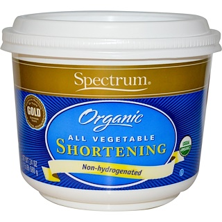 Spectrum Naturals, Organic All Vegetable Shortening, 24 oz (680 g)