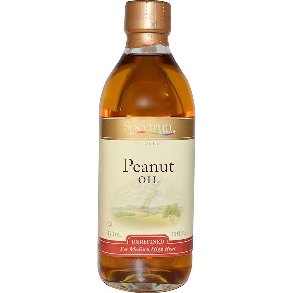 Spectrum Culinary, Peanut Oil, Unrefined, 16 fl oz (473 ml) (Discontinued Item)