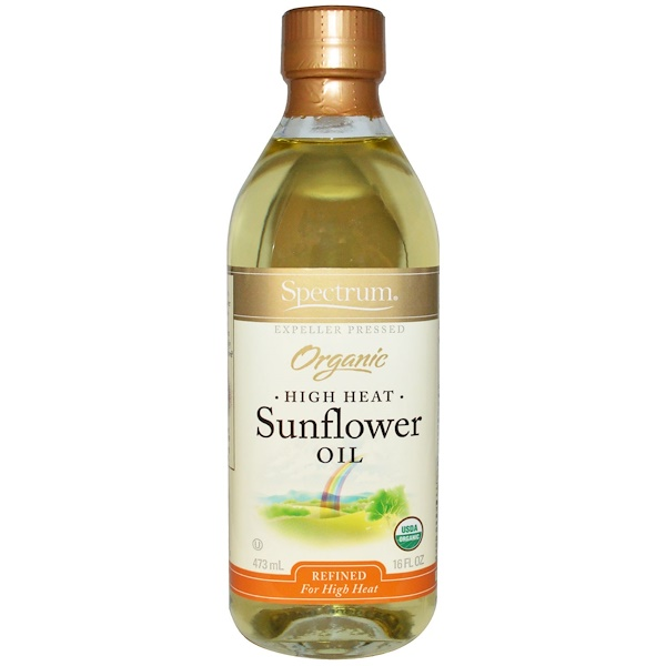 Spectrum Culinary, Organic High Heat Sunflower Oil, Refined, 16 fl oz (473 ml)