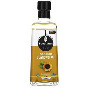 Спектрум Натуралс, Organic High Heat Sunflower Oil, Refined, 16 fl oz (473 ml) отзывы покупателей
