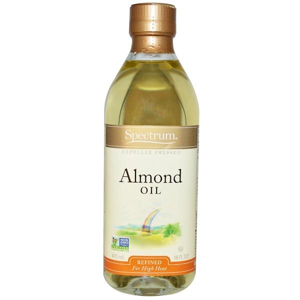 Spectrum Naturals, Aceite de Almendra, Refinado, 16 fl oz (473 ml)