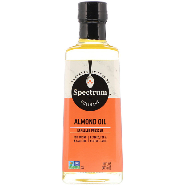 Spectrum Culinary, Almond Oil, Expeller Pressed, 16 fl oz (473 ml) (Discontinued Item)