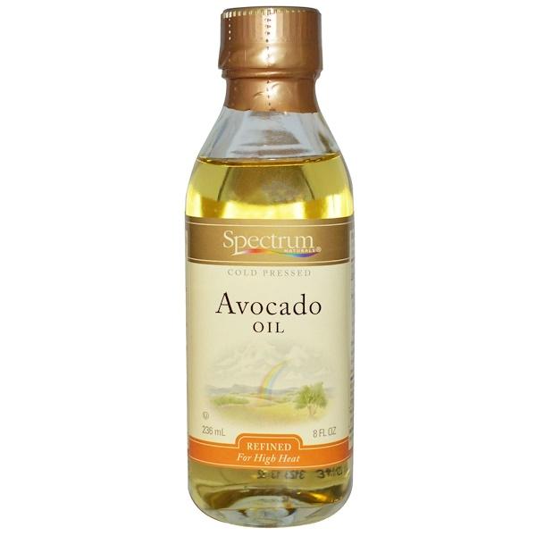 Spectrum Naturals, 精製鱷梨油,8液體盎司(236毫升)