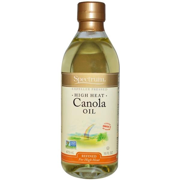Spectrum Naturals, Canola Oil, High Heat, Refined, 16 fl oz (473 ml)