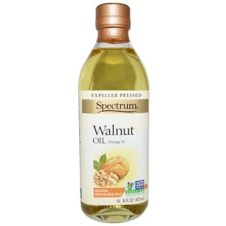 Spectrum Naturals, Walnut Oil, Refined, 16 fl oz (473 ml)