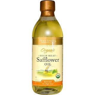 Spectrum Naturals, Organic Safflower Oil, High Heat, 16 fl oz (473 ml)