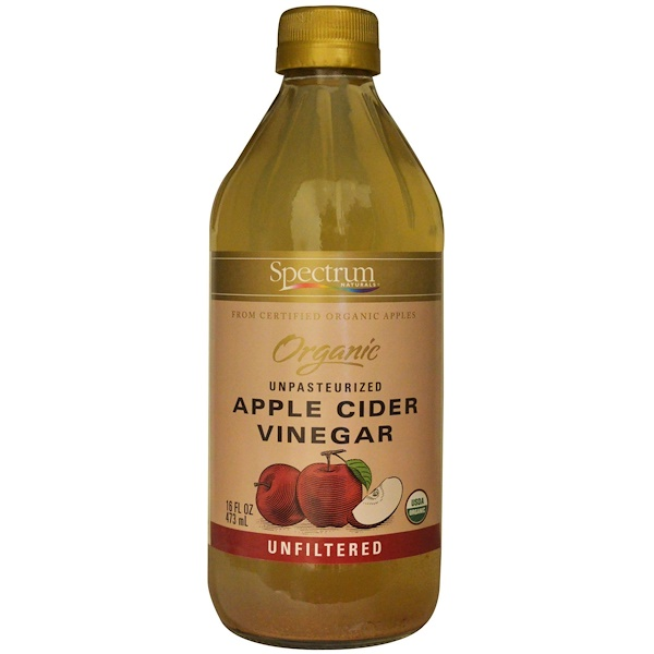 Spectrum Culinary, Organic Unpasteurized Apple Cider Vinegar, Unfiltered, 16 fl oz (473 ml) (Discontinued Item)