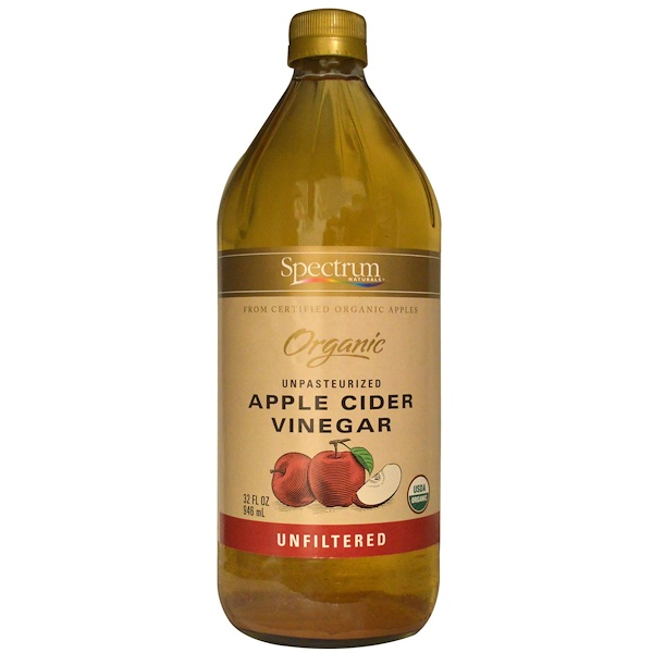 Spectrum Naturals, Organic Apple Cider Vinegar, Unpasteurized, Unfiltered, 32 fl oz (946 ml) (Discontinued Item)