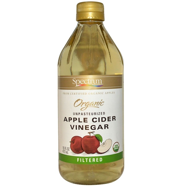 Spectrum Culinary, Organic Apple Cider Vinegar, Unpasteurized, Filtered, 16 fl oz (473 ml) (Discontinued Item)