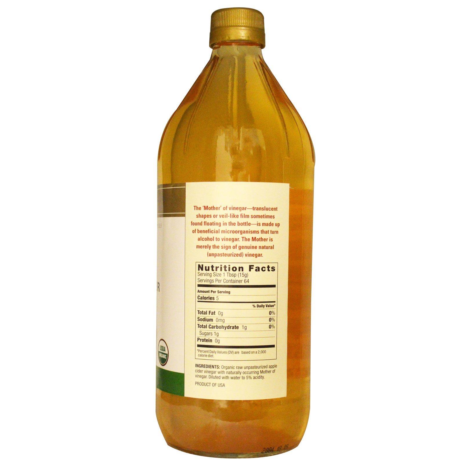 Spectrum Naturals Organic Apple Cider Vinegar Unpasteurized Bragg 946 Ml Click To Zoom