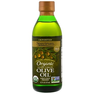 Spectrum Naturals, Organic Extra Virgin Olive Oil, 12.7 fl oz (375 ml)