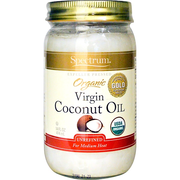 Spectrum Naturals, Organic Virgin Coconut Oil, Unrefined, 14 fl oz (414 ml)