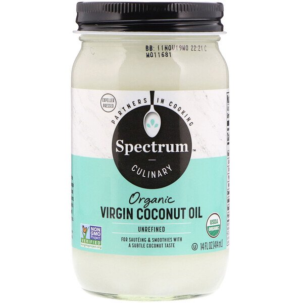 Spectrum Culinary, Organic Virgin Coconut Oil, Unrefined, 14 fl oz (414 ml)
