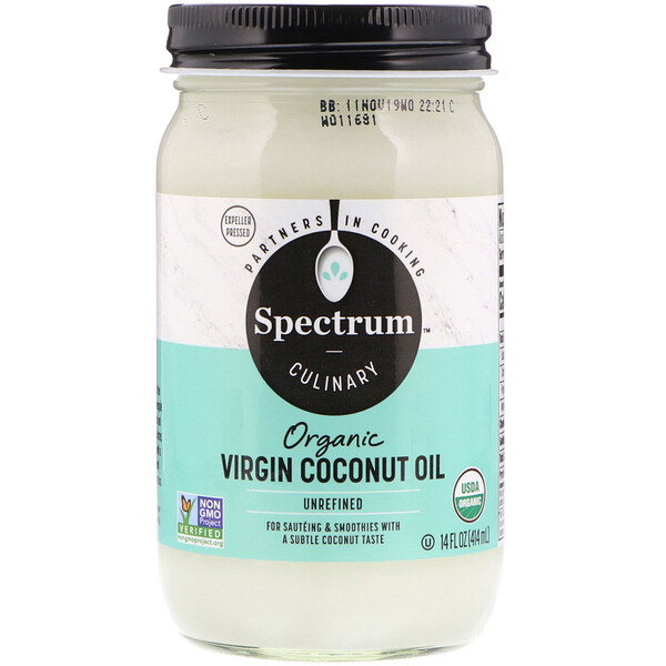 Organic Virgin Coconut Oil, Unrefined, 14 fl oz (414 ml)