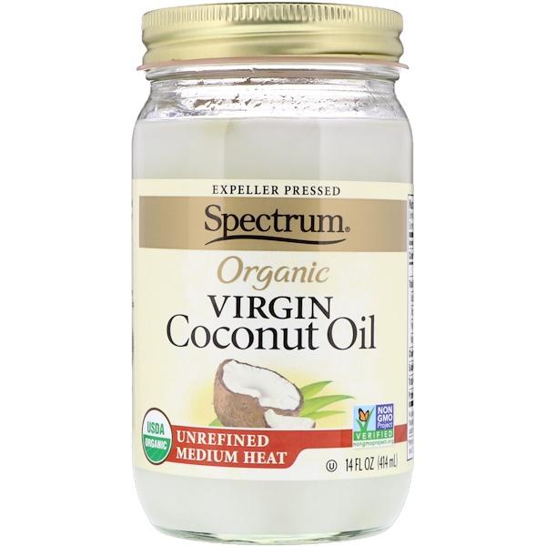 Spectrum Naturals, Organic Virgin Coconut Oil, Unrefined, 14 fl oz (414 ml)