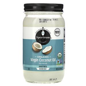 Спектрум Натуралс, Organic Virgin Coconut Oil, Unrefined, 14 fl oz (414 ml) отзывы покупателей
