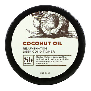 Soapbox, Rejuvenating Deep Conditioner, Coconut Oil, 12 fl oz (354 ml)