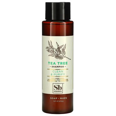 Купить Soapbox Tea Tree Shampoo, Clean & Purify, 16 fl oz (473 ml)