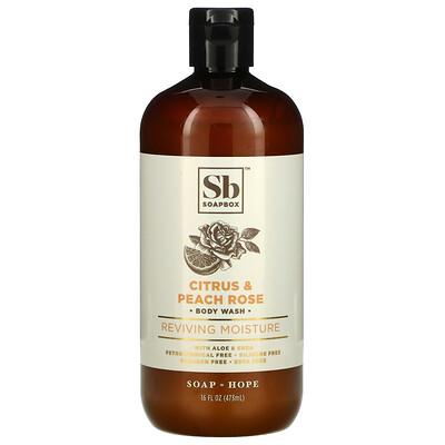 Soapbox Reviving Moisture, Body Wash, Citrus & Peach Rose, 16 fl oz (473 ml)