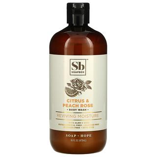 Soapbox, Body Wash with Aloe & Shea, Citrus & Peach Rose, 16 fl oz (473 ml)