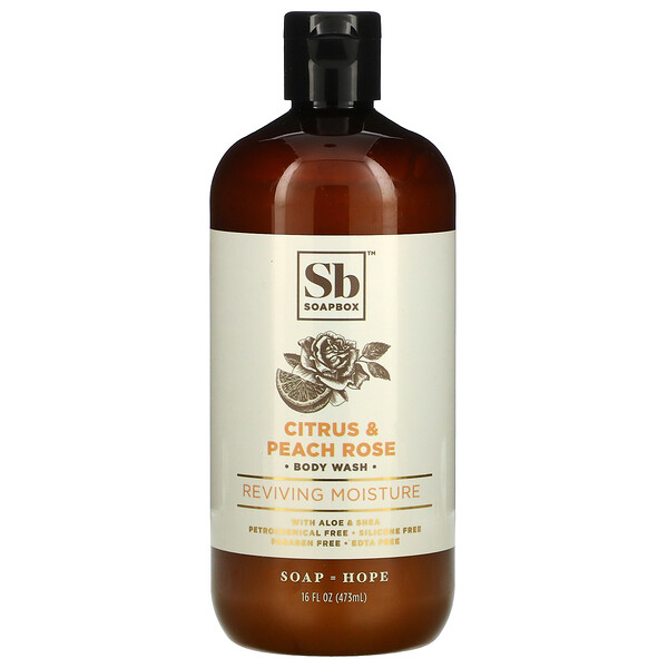 Body Wash with Aloe & Shea, Citrus & Peach Rose, 16 fl oz (473 ml)