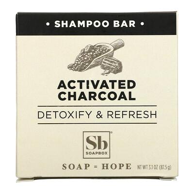 Купить Soapbox Shampoo Bar, Activated Charcoal, 1 Bar