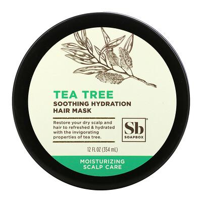 Купить Soapbox Soothing Hydration Hair Mask, Tea Tree, 12 fl oz (354 ml)