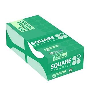 Square Organics, Organic Protein Bar, Chocolate Coated Mint, 12 Bars, 1.7 oz (48 g) Each
