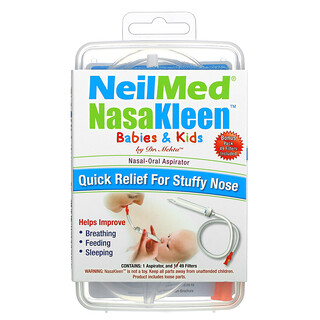 Squip, NeilMed NasaKleen Babies & Kids Nasal-Oral Aspirator, 1 Kit