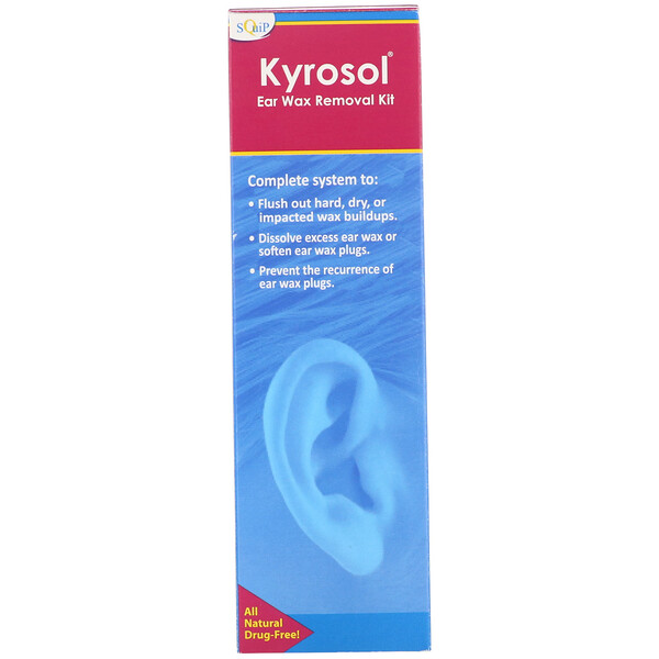 Squip, Kyrosol, Ear Wax Removal Kit, 5 Piece Kit
