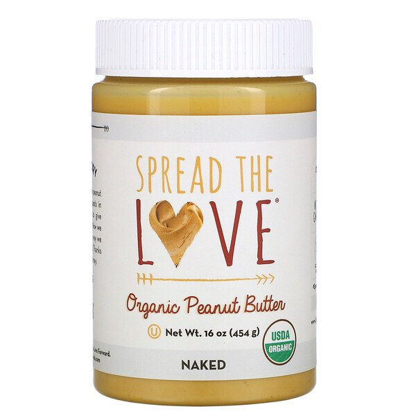 Spread The Love, Organic Peanut Butter, Naked, 16 oz ( 454 g)