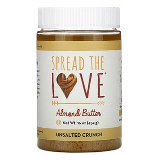 Spread The Love, Almond Butter, Unsalted Crunch, 16 oz ( 454 g)