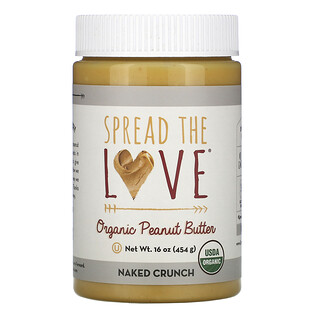 Spread The Love, Organic Peanut Butter, Naked Crunch, 16 oz (454 g)