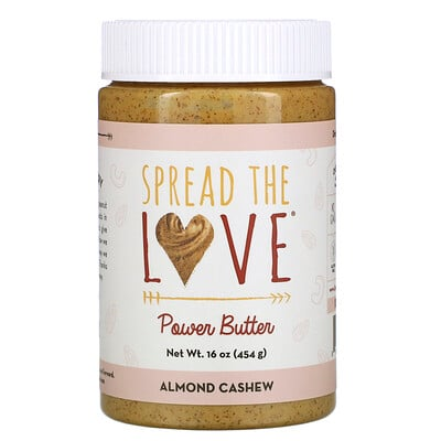 Купить Spread The Love Power Butter, Almond Cashew, 16 oz ( 454 g)
